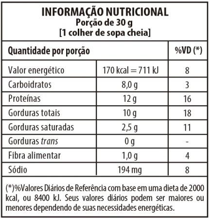 elaboraco 02 tabelas informaco nutricional